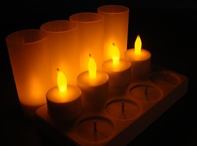With flickering LED lights, they look just like real candles but without the dangerous open flame!