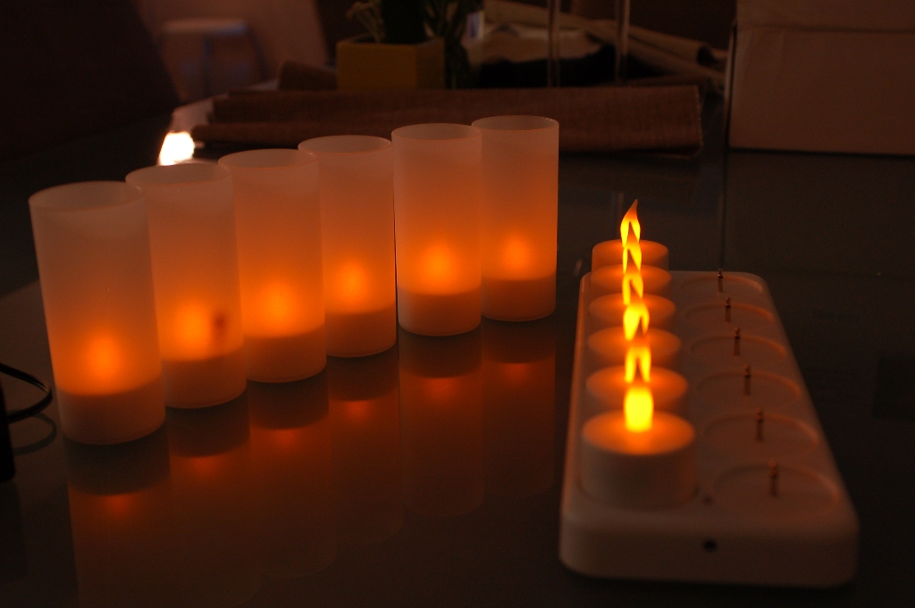 Rechargeable LED Candles - 12 pack - Click Image to Close